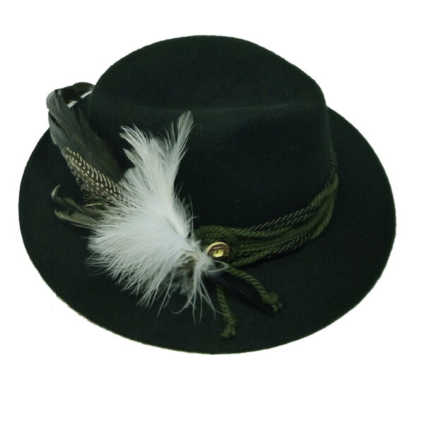 c94dd1ffbfec Poľovnícky klobúk zelený pánsky aj dámsky s perom