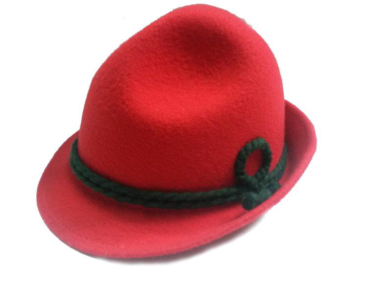 d44e500ce Detský klobúk červený