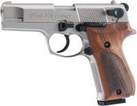 Plynová pištoľ Walther P88 Compact nickel/wood, kal. 9mm PA
