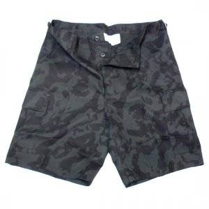 Nohavice BDU short R/S MFH - night camo